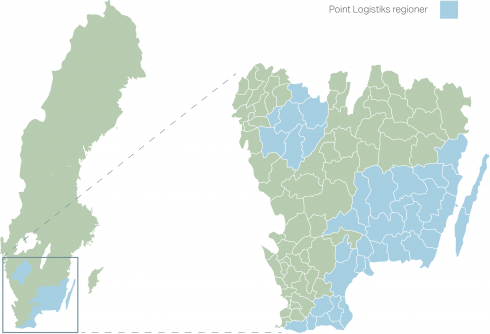 karta över distrikt